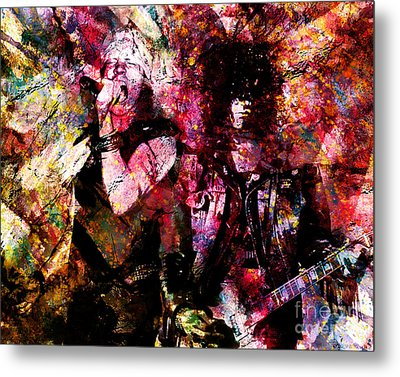 Axl And Slash - Appetite For Your Illusion Metal Print by Ryan Rock Artist