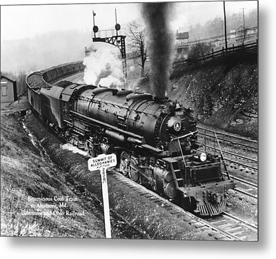 B & O Railroad Coal Train Metal Print by Underwood Archives