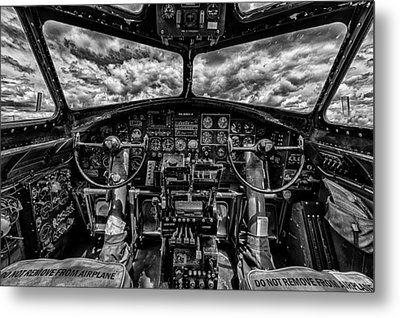 B-17 Cockpit Metal Print by Mike Burgquist