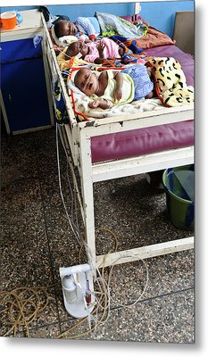 Babies In Hospital Metal Print by Matthew Oldfield