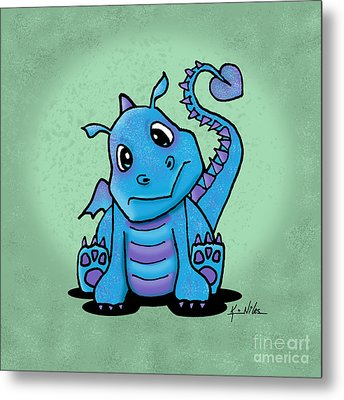 Baby Dragon Metal Print by Kim Niles