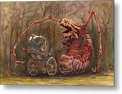 Baby Fight Metal Print by Ethan Harris