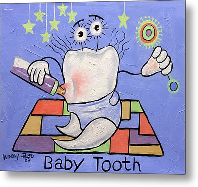 Baby Tooth Metal Print by Anthony Falbo