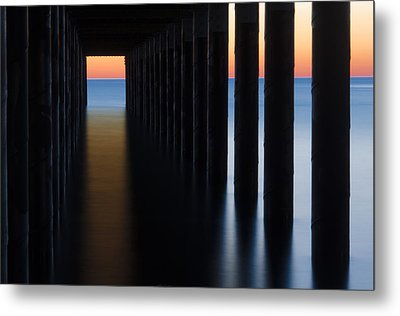 Back Under The Pier Metal Print by Steve Myrick