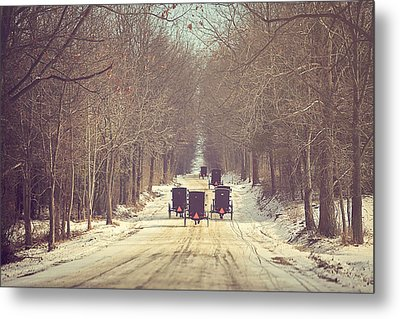 Backroad Buggies Metal Print by Carrie Ann Grippo-Pike