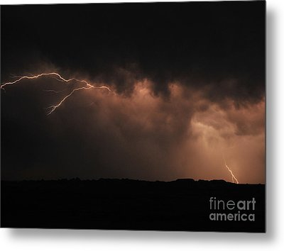 Badlands Lightning Metal Print by Chris  Brewington Photography LLC