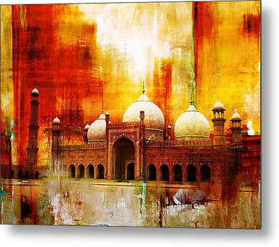Badshahi Mosque Or The Royal Mosque Metal Print by Catf