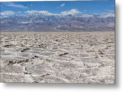 Badwater Basin - Death Valley Metal Print by Sandra Bronstein
