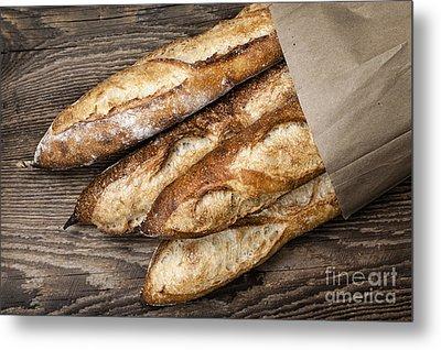 Baguettes Bread Metal Print by Elena Elisseeva
