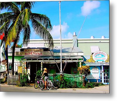 Bait And Tackle Key West Metal Print by Iconic Images Art Gallery David Pucciarelli