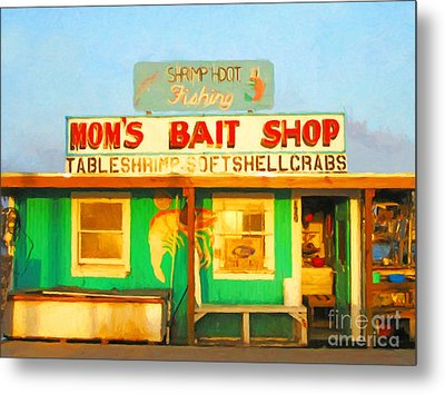 Bait Shop 20130309-1 Metal Print by Wingsdomain Art and Photography