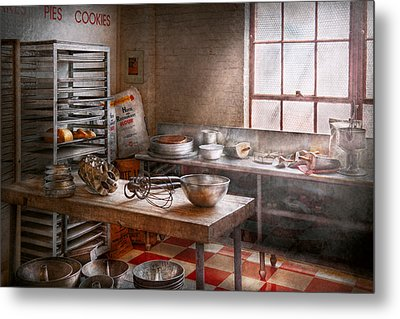 Baker - Kitchen - The Commercial Bakery  Metal Print by Mike Savad
