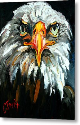 Bald And Bold Metal Print by Carole Foret