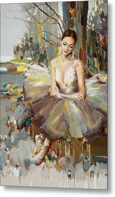 Ballerina 32 Metal Print by Mahnoor Shah