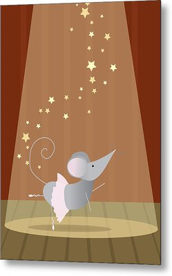 Ballet Mouse Nursery Art Girl Metal Print by Christy Beckwith