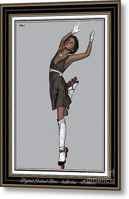 Ballet On Skates 2bos2 Metal Print by Pemaro