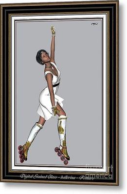 Ballet On Skates 5bos2 Metal Print by Pemaro