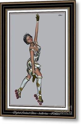 Ballet On Skates 7bos2 Metal Print by Pemaro