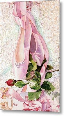 Ballet Rose Metal Print by Judy Koenig