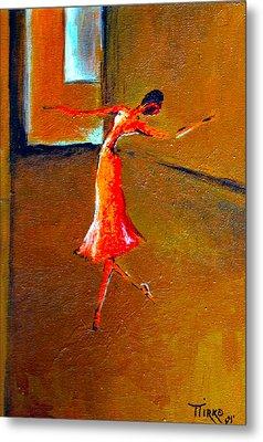 Ballet Solitaire Metal Print by Mirko Gallery