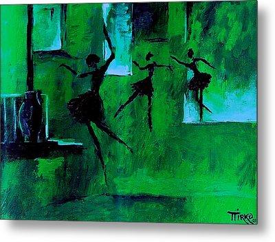 Ballet Vert Metal Print by Mirko Gallery