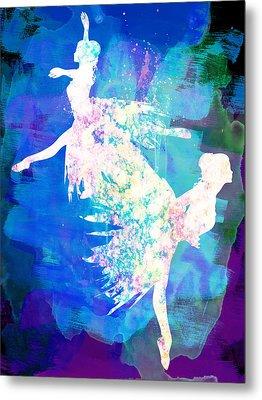 Ballet Watercolor 2 Metal Print by Naxart Studio