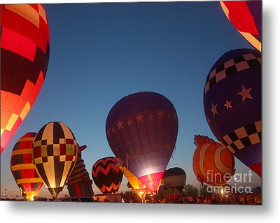 Balloon-glow-7808 Metal Print by Gary Gingrich Galleries