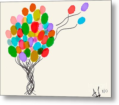 Balloons For Sale Metal Print by Anita Lewis