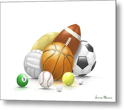 Balls Metal Print by Veronica Minozzi