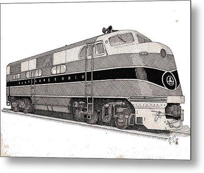 Baltimore And Ohio Diesel Engine Metal Print by Calvert Koerber