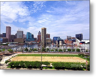 Baltimore Inner Harbor Beach Metal Print by Olivier Le Queinec