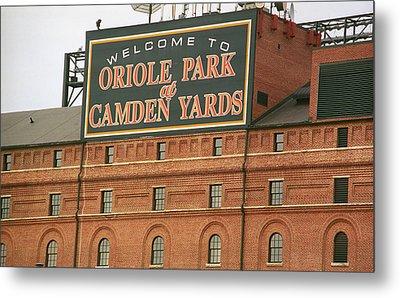 Baltimore Orioles Park At Camden Yards Metal Print by Frank Romeo
