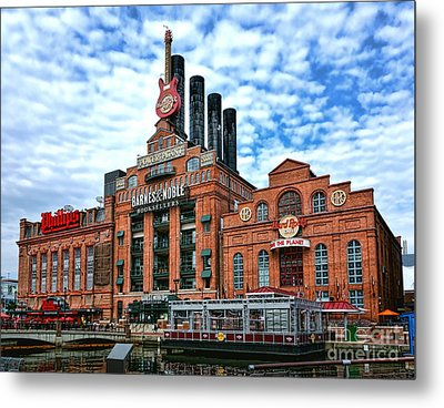 Baltimore Power Plant Metal Print by Olivier Le Queinec