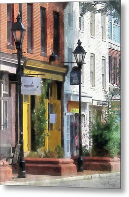 Baltimore - Quaint Fells Point Street Metal Print by Susan Savad
