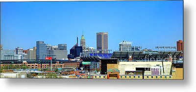 Baltimore Stadiums Metal Print by Olivier Le Queinec