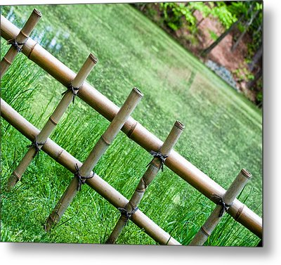 Bamboo Fence Metal Print by Brett Price