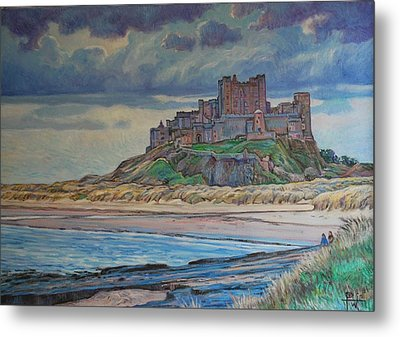 Bamburgh  Metal Print by Henry David Potwin