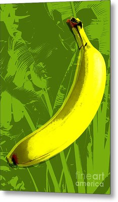 Banana Pop Art Metal Print by Jean luc Comperat