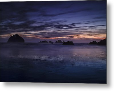 Bandon Beach At Twilight Metal Print by Andrew Soundarajan