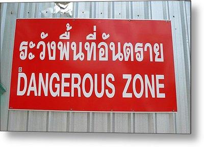 Bangkok Dangerous Zone Metal Print by Gregory Smith