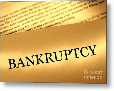 Bankruptcy Notice Metal Print by Olivier Le Queinec