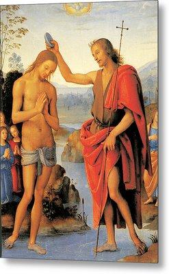Baptism Of Christ Metal Print by Pietro Perugino