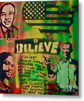 Barack And Martin And Malcolm Metal Print by Tony B Conscious