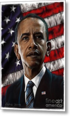 Barack Obama Metal Print by Andre Koekemoer