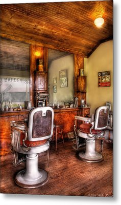 Barber - The Barber Shop II Metal Print by Mike Savad