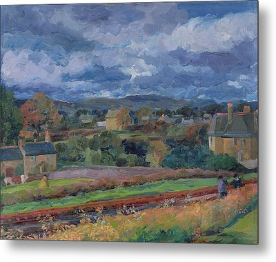 Barbon From The Railway Line Autumn Metal Print by Stephen Harris