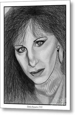 Barbra Streisand In 1983 Metal Print by J McCombie