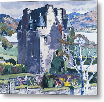 Barcaldine Castle Metal Print by Francis Campbell Boileau Cadell
