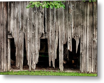 Barn Boards - Rustic Decor Metal Print by Gary Heller
