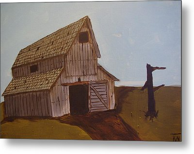 Barn On The Hill Metal Print by Keith Nichols